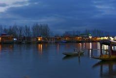 克什米尔的Dal湖 库存照片