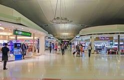 免税区域在曼谷素万那普机场 库存图片