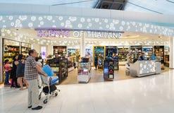 免税商店,曼谷机场 免版税图库摄影