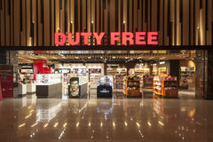 免税店在埃森博阿国际机场,安卡拉,土耳其 免版税图库摄影
