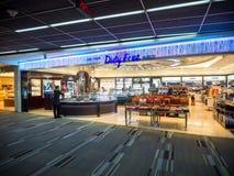 免税店在Donmueang机场 免版税图库摄影