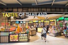 免税食品店,曼谷机场 库存图片