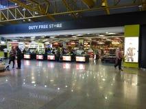 免税购物的法鲁机场 免版税图库摄影