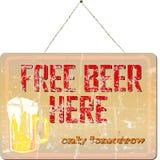 免费啤酒 库存照片