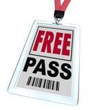 免费入场券-短绳和徽章 库存例证