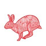 兔子中国人黄道带 库存图片