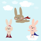 兔子传染媒介例证 免版税库存照片