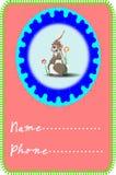 兔子卡片 免版税库存照片