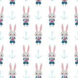 兔子和船锚 免版税库存图片