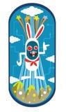 兔子字符设计 免版税库存照片