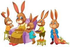 兔子家庭 免版税库存照片