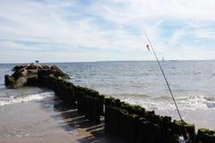 兔子岛纽约捕鱼季节 免版税库存照片