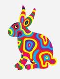 兔子抽象颜色 免版税库存照片
