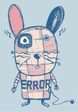 兔子机器人错误 图库摄影