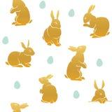 兔子样式复活节褐色 免版税图库摄影