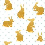 兔子样式金子 免版税库存图片