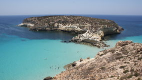 兔子海岛在lampedusa 免版税库存图片