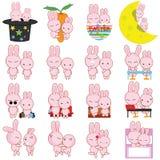 兔子漫画人物传染媒介 免版税库存照片