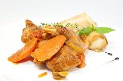 兔子炖煮的食物 免版税库存图片