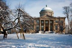 兔子议院Krolikarnia,冬天在华沙 库存图片