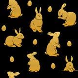 兔子金剪影 免版税图库摄影