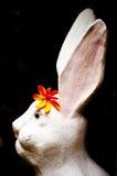 兔子雕象 免版税库存照片