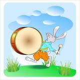 兔子鼓手02 免版税库存图片