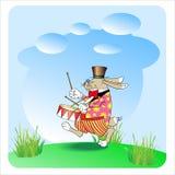 兔子鼓手 库存照片