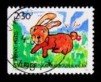 兔子, Children's图画serie,大约1992年 免版税库存图片