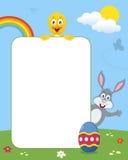 兔子&小鸡照片框架 免版税库存图片