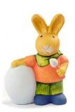 兔宝宝五颜六色的复活节 免版税库存照片