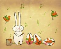 兔宝宝准备的复活节 免版税库存图片