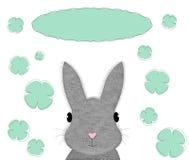 兔宝宝卡片模板 免版税库存图片