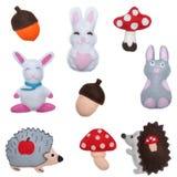 兔宝宝和猬 免版税库存照片
