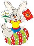兔宝宝复活节彩蛋坐 库存照片