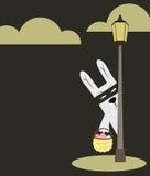 兔宝宝复活节明信片 皇族释放例证