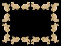 兔宝宝复活节框架 免版税图库摄影