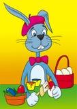 兔宝宝复活节画家 向量例证