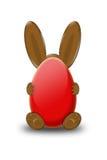 兔宝宝复活节红色 免版税库存照片