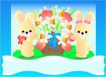 兔宝宝复活节花 免版税库存照片