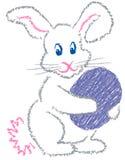 兔宝宝复活节 库存例证