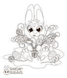 兔宝宝复活节一点 书五颜六色的彩图例证 库存照片
