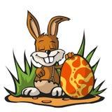 兔宝宝复活节一点 库存图片