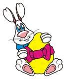 兔宝宝复活节彩蛋藏品 免版税库存照片