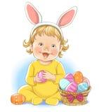 兔宝宝复活节彩蛋 向量例证
