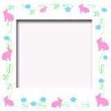 兔宝宝复活节框架 免版税库存照片