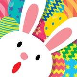 兔宝宝复活节背景 免版税库存照片