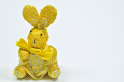 兔宝宝复活节黄色 库存照片