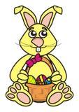 兔宝宝复活节黄色 免版税库存照片