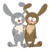 兔宝宝夫妇 免版税库存照片